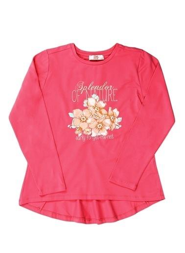 Pink&Orange Tişört Fuşya